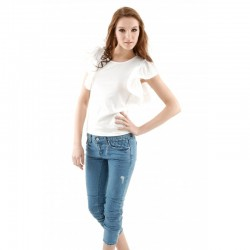 Blouse with loose-fitting...